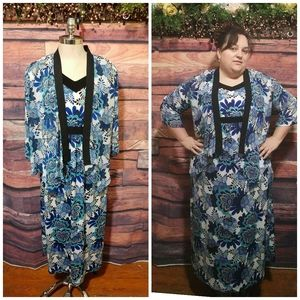 Notations floral dress and Jacket 2x